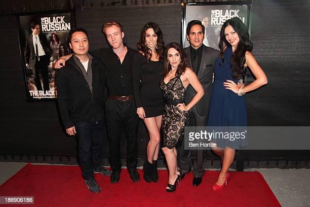 "Producer Hiram Chan and actors Laurence Fuller, Danielle Dilorenzo, Christina DeRosa, Amar Sidhu and Natasha Blasick attends the ""Black Russian""..."
