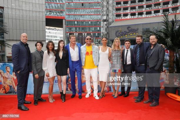 Producer Hiram Garcia actors Jon Bass Priyanka Chopra Alexandra Daddario David Hasselhoff Dwayne Johnson Ilfenesh Hadera Kelly Rohrbach Zac Efron...