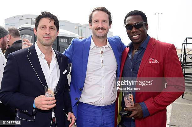 Producer Houston King Sundance Film Festival Director of Programming Trevor Groth and actor Hakeem KaeKazim attend the 2016 Film Independent Spirit...