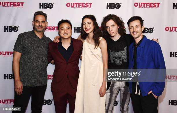 Producer Howard Gertler actors Leo Sheng Margaret Qualley and Nicholas Alexander and director Rhys Ernst arrive at the Outfest Los Angeles LGBTQ Film...