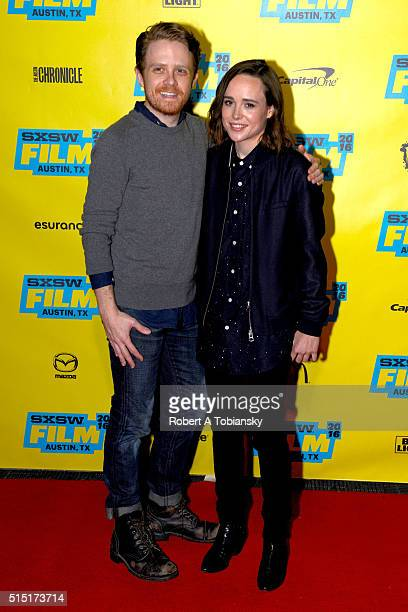 Producer Ian Daniel and actress Ellen Page attend the Ellen Page Keynote during the 2016 SXSW Music Film Interactive Festival at Vimeo on March 12...