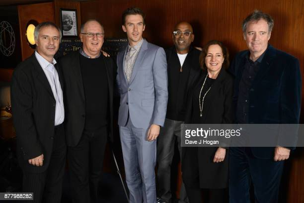 Producer Ian Sharples producer Robert Mickelson Dan Stevens director Bharat Nalluri and executive producer Paula Mazur attend the UK premiere of 'The...