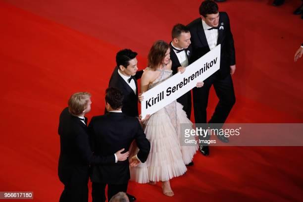 Producer Ilya Stewart cinematographer Vladislav Opelyants actors Teo Yoo Irina Starshenbaum Roman Bilyk and producer CharlesEvrard Tchekhoff with a...