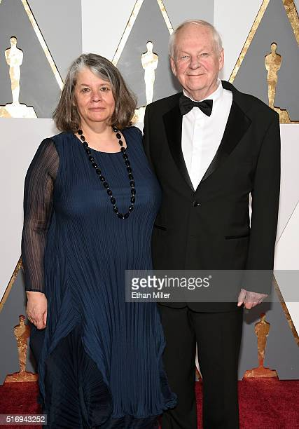 Producer Imogen Sutton and animator Richard Williams attend the 88th Annual Academy Awards at Hollywood Highland Center on February 28 2016 in...