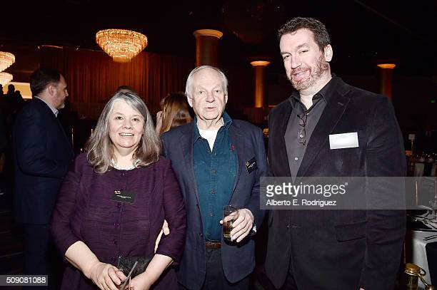 Producer Imogen Sutton director Richard Williams and editor Tom McArdle attend the 88th Annual Academy Awards nominee luncheon on February 8 2016 in...