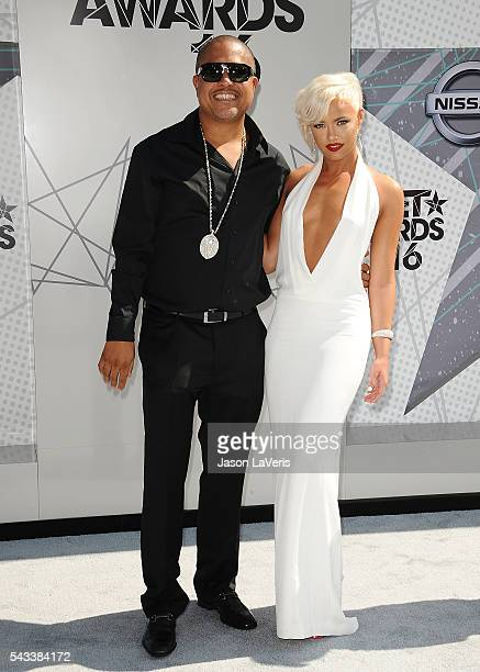 Producer Irv Gotti and Ashley Martelle attend the 2016 BET Awards at Microsoft Theater on June 26 2016 in Los Angeles California