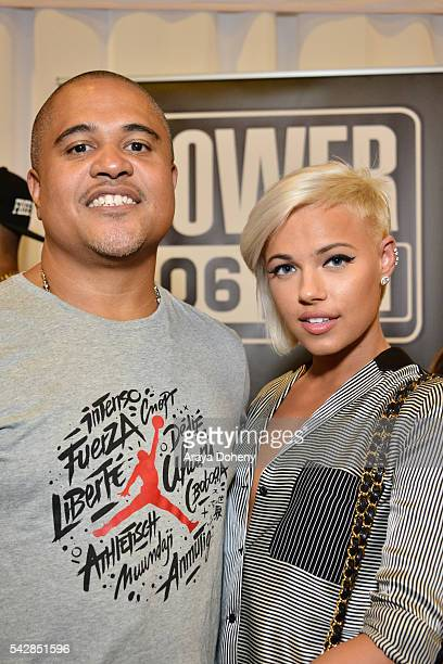 Producer Irv Gotti and recording artist Ashley Martelle attend the radio broadcast center during the 2016 BET Experience at the JW Marriott Los...