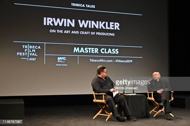 """Producer Irwin Winkler attends Tribeca Talks Master Class: Irwin Winkler """"On The Art And Craft Of Producing"""" at the 2019 Tribeca Film Festival at SVA..."""