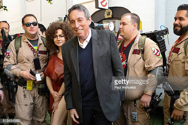 "Producer Ivan Reitman attends the ""Ghostbusters"" fan event photo call at Sony Pictures Studios on March 2, 2016 in Culver City, California."