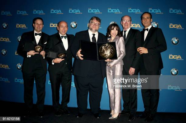 Producer J Miles Dale director Guillermo del Toro winner of the award for Outstanding Directorial Achievement in Feature Film for 'The Shape of...