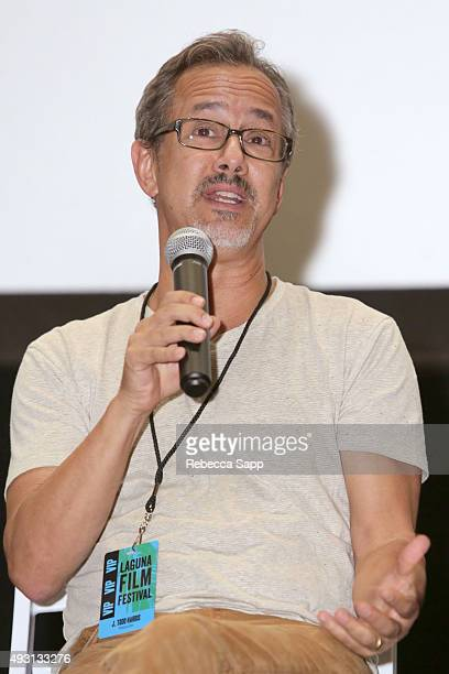 Producer J Todd Harris speaks onstage at the Hollywood Today panel at the 1st Annual Laguna Film Festival Day 2 on October 17 2015 in Laguna Niguel...