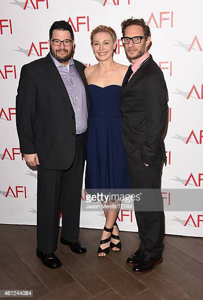 Producer Jack Amiel actress Juliet Rylance and producer Michael Begler attend the 15th Annual AFI Awards at Four Seasons Hotel Los Angeles at Beverly...