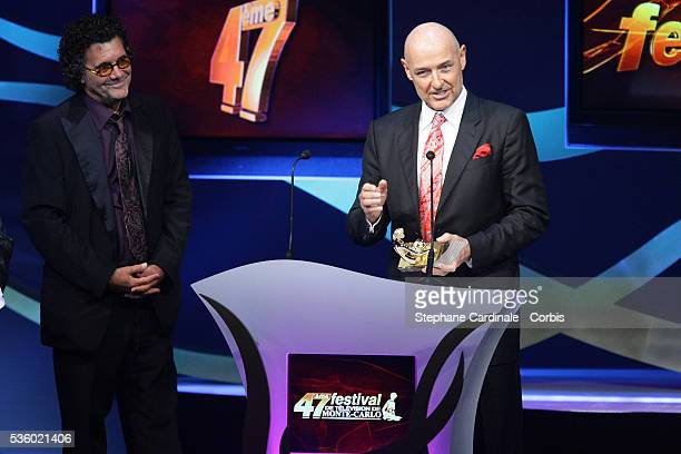 Producer Jack Bender and actor Terry O'Quinn with Best International Producer Award for the televison serie 'Lost' during the 47th Monte Carlo...