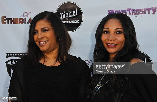 Producer Jackie Cherry and actress Angela Rice arrive for the Etheria Film Night 2015 held at American Cinematheque's Egyptian Theatre on June 13...