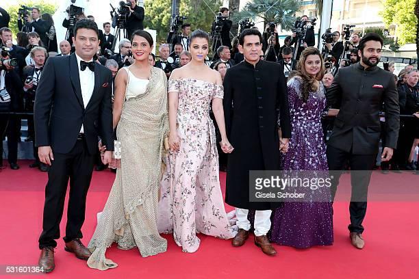 "Producer Jackky Bhagnani, Deepshika Deshmukh , actors Darshan Kumaar, Aishwarya Rai, Richa Chadha and T-Series head Bhushan Kumar attend the ""From..."