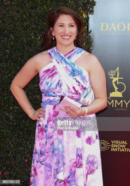 Producer Jaclynn Demas attends the 45th Annual Daytime Creative Arts Emmy Awards at the Pasadena Civic Auditorium on April 27 2018 in Pasadena...