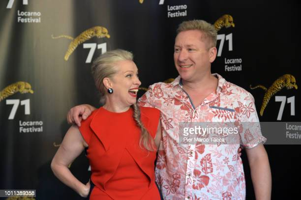Producer Jacqui Davies and Director Richard Billingham attend 'RayLiz' photocall during the 71st Locarno Film Festival on August 5 2018 in Locarno...