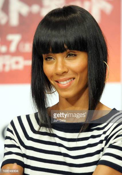 Producer Jada Pinkett Smith attends a The Karate Kid press conference at The Ritz Carlton Tokyo on August 5 2010 in Tokyo Japan The film will open in...