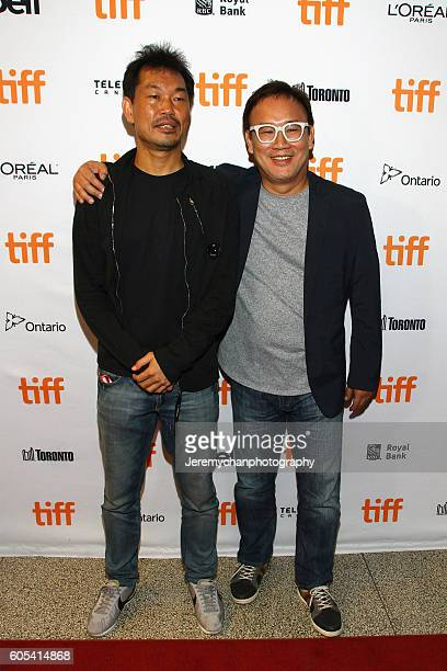 Producer Jaeduk Han and director Kim Sungsu attend the Asura The City Of Madness premiere held at The Elgin during the Toronto International Film...