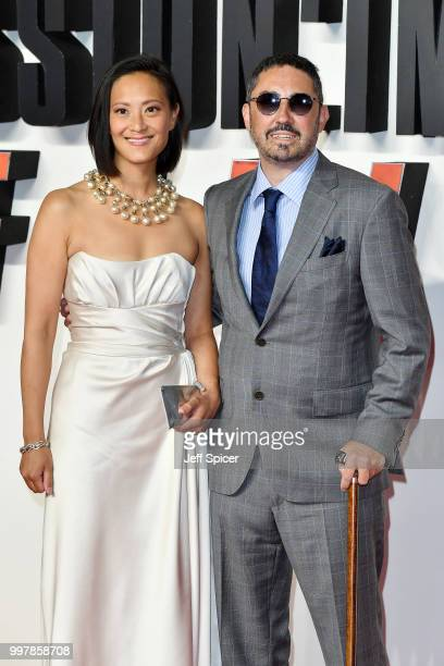 Producer Jake Myers and his wife Kea Wong attend the UK Premiere of 'Mission Impossible Fallout' at BFI IMAX on July 13 2018 in London England