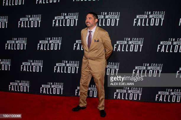 Producer Jake Myers arrives for a screening of 'Mission Impossible Fallout' at the Smithsonian National Air and Space Museum on July 22 in Washington...