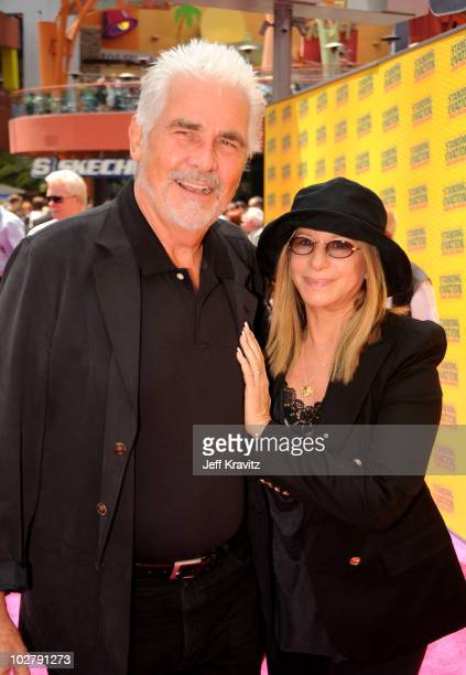 "Producer James Brolin and singer Barbra Streisand arrive at the Los Angeles premiere of ""Standing Ovation"" at Universal CityWalk on July 10, 2010 in..."