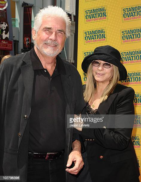 Producer James Brolin and singer Barbra Streisand attend the premiere of Standing Ovation at Universal CityWalk on July 10 2010 in Universal City...