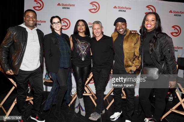 Producer James Lopez Jami Gertz Taraji P Henson Director Adam Shankman Producer Will Packer and Shayla Cowan attend the Hawks Means Business Chat in...