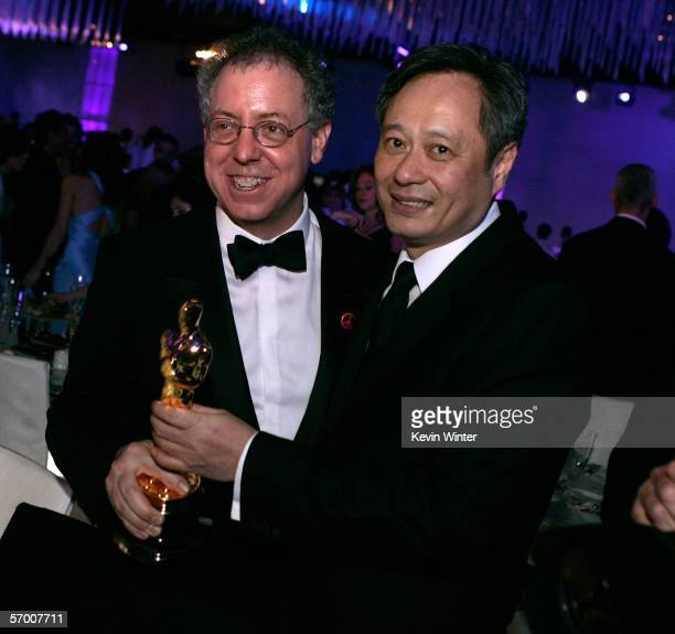 Producer James Schamus and director Ang Lee attend the Governor's Ball after the 78th Annual Academy Awards at The Highlands on March 5 2006 in...