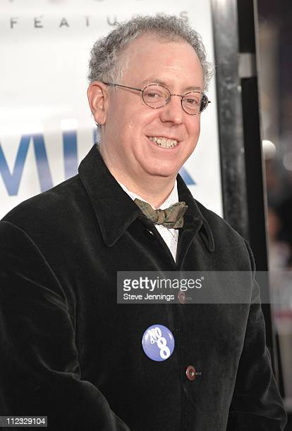 Producer James Schamus attends the premiere of Milk hosted by Levi's at the Castro Theater on October 28 2008 in San Francisco California
