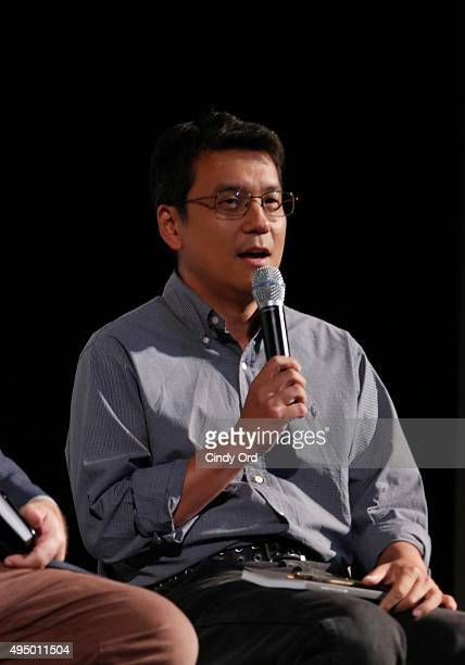 Producer James Su of Jasmine speaks on stage during QA session during Day Seven of 18th Annual Savannah Film Festival Presented by SCAD on October 30...