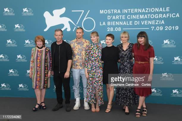 Producer Jan Chapman Ben Mendelsohn Toby Wallace director Shannon Murphy Eliza Scanlen attend Babyteeth photocall during the 76th Venice Film...