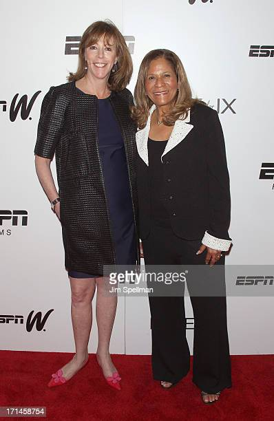 Producer Jane Rosenthal and basketball coach C Vivian Stringer attend 'Venus Vs' and 'Coach' New York Special Screening at Paley Center For Media on...