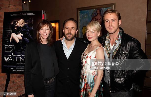 Producer Jane Rosenthal director Derek Cianfrance actress Michelle Williams and actor Ryan Gosling attend Jane Rosenthal and Robert De Niro Host...