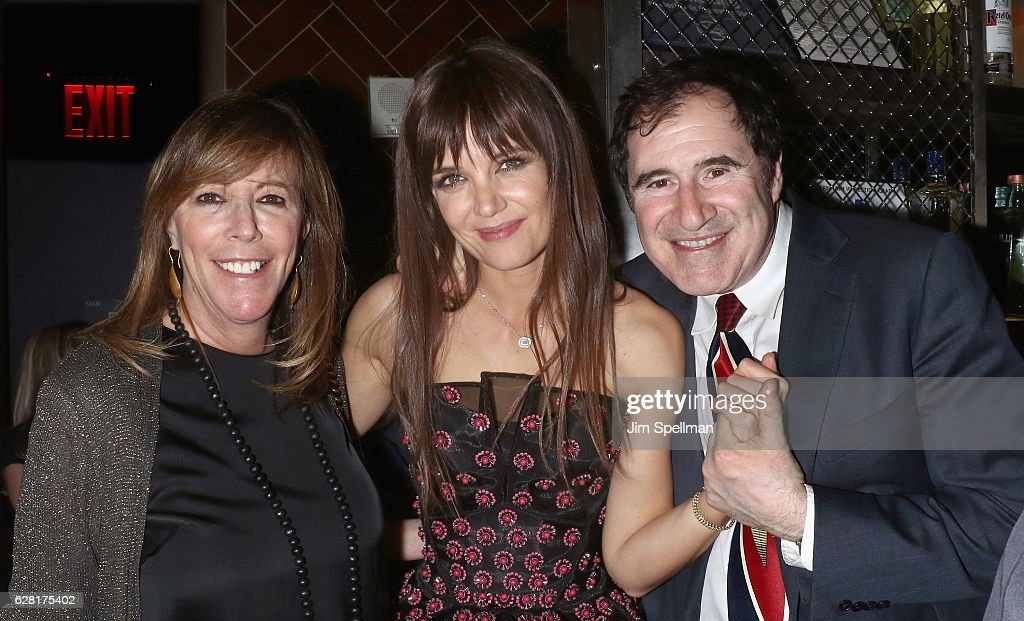 Producer Jane Rosenthal, director/producer/actress Katie Holmes and actor Richard Kind attend the after party for the screening of 'All We Had' hosted by The Cinema Society and Ruffino at Jimmy At The James Hotel on December 6, 2016 in New York City.