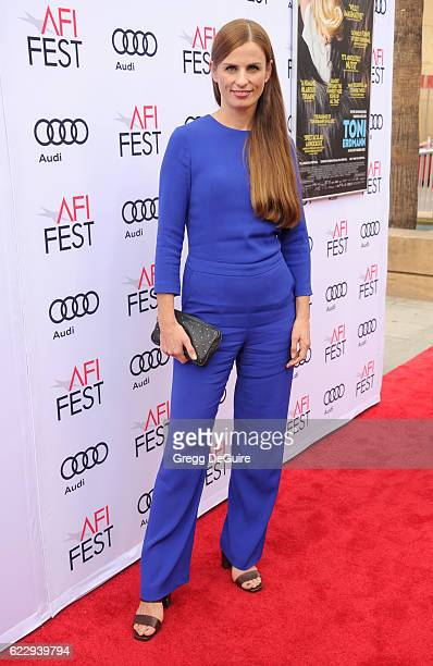 """Producer Janine Jackowski arrives at the AFI FEST 2016 Presented By Audi -Screening Of Sony Pictures Classic's """"Toni Erdmann"""" at the Egyptian Theatre..."""