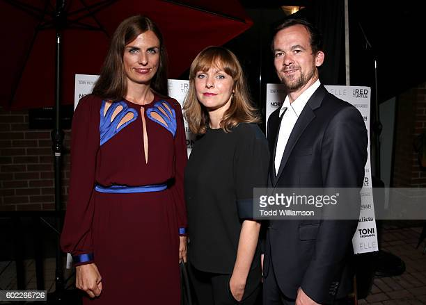 Producer Janine Jackowski, director Maren Ade and producer Jonas Dornbach attend the Sony Pictures Classics TIFF Celebration Dinner during the 2016...