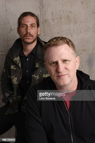 Producer Jason Bergh and director Michael Rapaport from 'When the Garden Was Eden' pose at the Tribeca Film Festival Getty Images Studio on April 22...