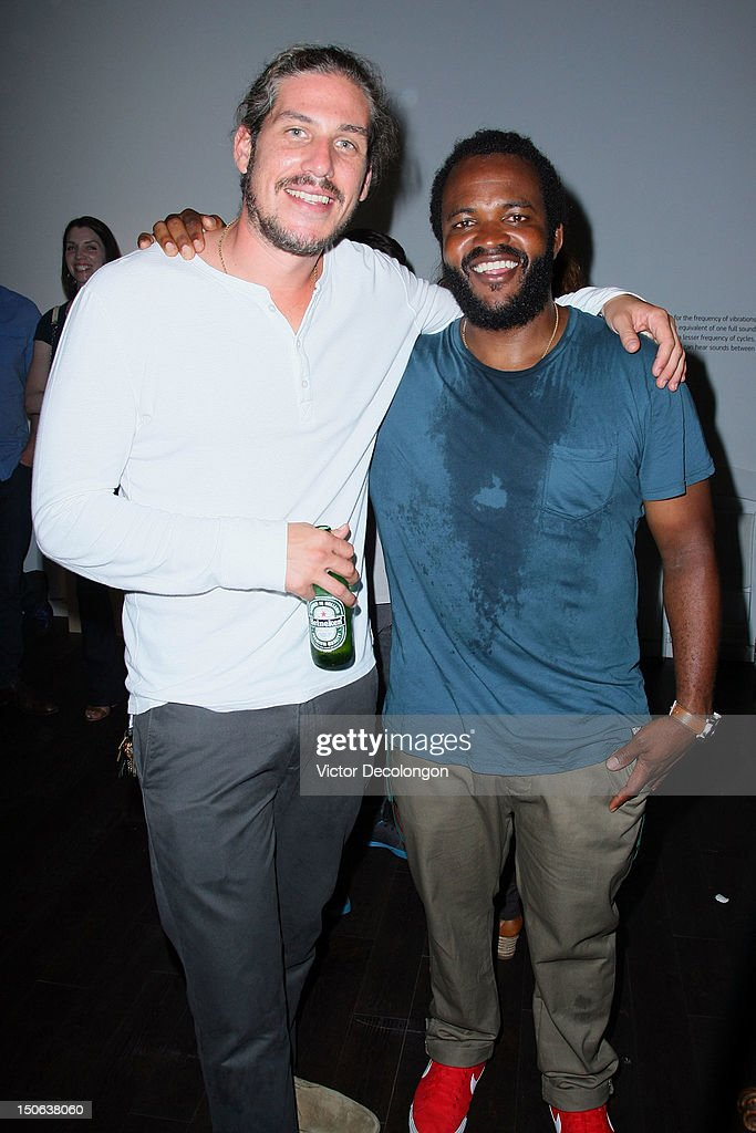 Producer Jason Bergh and musician Selema Masakela attend the screening of 'Alekesam' at Sonos Studio on August 22, 2012 in Los Angeles, California.