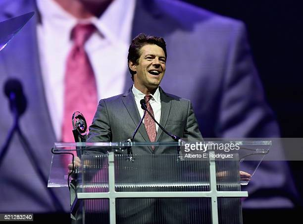 Producer Jason Blum accepts the Producer of the Year Award during the CinemaCon Big Screen Achievement Awards brought to you by the CocaCola Company...