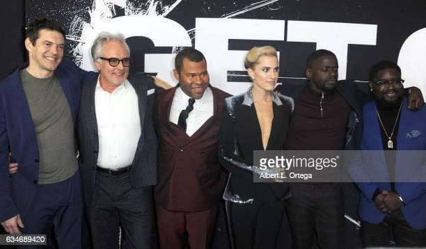 Producer Jason Blum actor Bradley Whitford writer/director Jordan Peele actress Allison Williams actor Daniel Kaluuya and actor Milton ÒLil RelÓ...