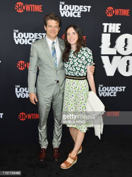 US producer Jason Blum and his wife journalist Lauren Schuker attend the Showtime limited series premiere of The Loudest Voice at the Paris theatre...