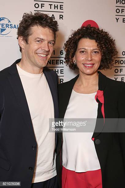 """Producer Jason Blum and Universal Pictures Chairman Donna Langley attend the 2016 Will Rogers """"Pioneer of the Year"""" Dinner Honoring Donna Langley at..."""