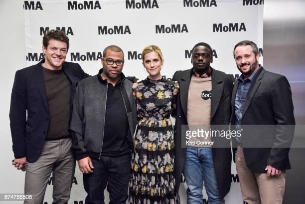 Producer Jason Blum director Jordan Peele actress Allison Williams actor Daniel Kaluuya and producer Sean McKittrick attend the MoMA's Contenders...