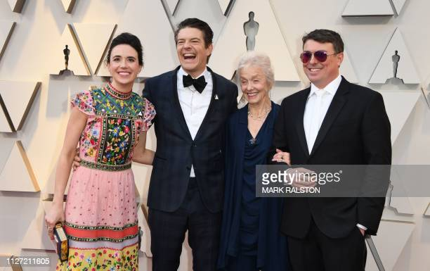 Producer Jason Blum his wife Lauren Schuker and guests arrive for the 91st Annual Academy Awards at the Dolby Theatre in Hollywood California on...