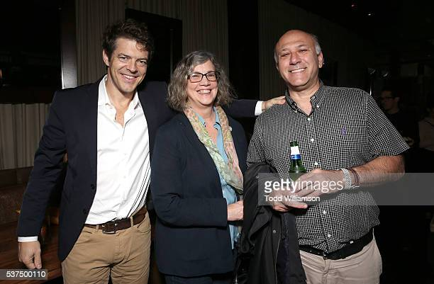 Producer Jason Blum, Indiewire's Anne Thompson, and Roadside Attraction's Howard Cohen attend the after party for the 2016 LA Film Festival Opening...