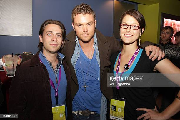 Producer Jason Brown actor Clayne Crawford and Abigail Carpenter attend the SAG Indie Party held at Bowlmor Lanes during the 2008 Tribeca Film...