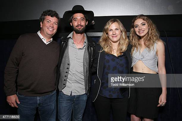 Producer Jason Netter Ryan Bingham Director/CoWriter Anna Axster and Imogen Poots attend the World Premiere of A Country Called Home at The 2015 Los...