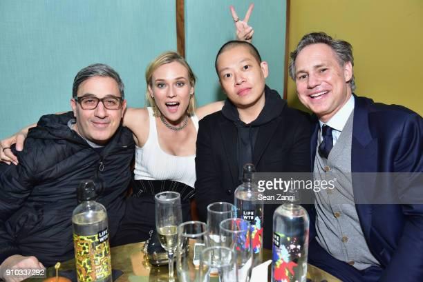 Producer Jason Weinberg actor Diane Kruger designer Jason Wu and publisher Jason Binn attend DuJour's Jason Binn Celebrates Winter Cover Star Diane...