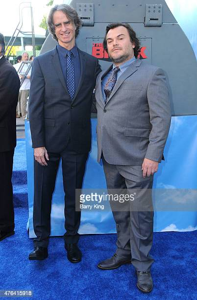 Producer Jay Roach and actor Jack Black arrive at the Premiere of HBO's 'The Brink' at the Paramount Theater at Paramount Studios on June 8 2015 in...